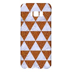Triangle3 White Marble & Rusted Metal Samsung Galaxy S8 Plus Hardshell Case