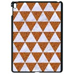 TRIANGLE3 WHITE MARBLE & RUSTED METAL Apple iPad Pro 9.7   Black Seamless Case Front