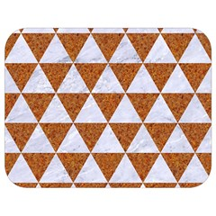 Triangle3 White Marble & Rusted Metal Full Print Lunch Bag by trendistuff