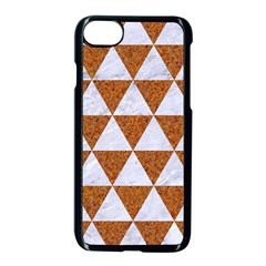 Triangle3 White Marble & Rusted Metal Apple Iphone 8 Seamless Case (black) by trendistuff