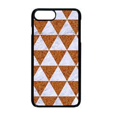 Triangle3 White Marble & Rusted Metal Apple Iphone 8 Plus Seamless Case (black) by trendistuff