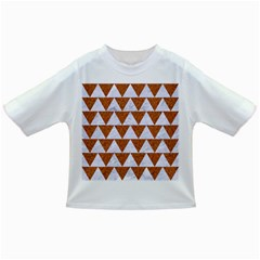 Triangle2 White Marble & Rusted Metal Infant/toddler T Shirts by trendistuff