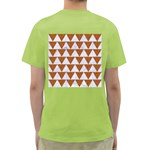 TRIANGLE2 WHITE MARBLE & RUSTED METAL Green T-Shirt Back