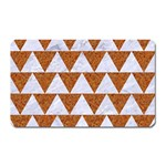 TRIANGLE2 WHITE MARBLE & RUSTED METAL Magnet (Rectangular) Front