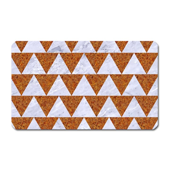 TRIANGLE2 WHITE MARBLE & RUSTED METAL Magnet (Rectangular)