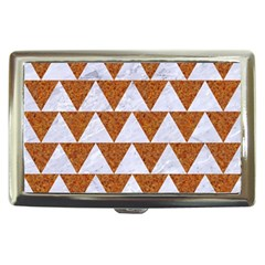 Triangle2 White Marble & Rusted Metal Cigarette Money Cases by trendistuff