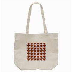 Triangle2 White Marble & Rusted Metal Tote Bag (cream) by trendistuff
