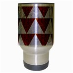 TRIANGLE2 WHITE MARBLE & RUSTED METAL Travel Mug (Silver Gray) Center