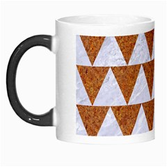 Triangle2 White Marble & Rusted Metal Morph Mugs by trendistuff