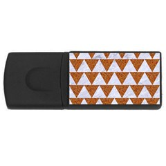 Triangle2 White Marble & Rusted Metal Rectangular Usb Flash Drive by trendistuff