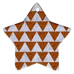 TRIANGLE2 WHITE MARBLE & RUSTED METAL Star Ornament (Two Sides) Back