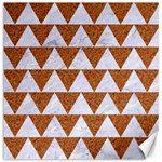 TRIANGLE2 WHITE MARBLE & RUSTED METAL Canvas 16  x 16   16 x16 Canvas - 1