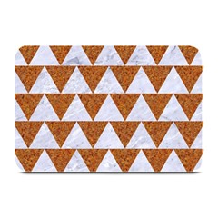 Triangle2 White Marble & Rusted Metal Plate Mats by trendistuff