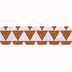 Triangle2 White Marble & Rusted Metal Large Bar Mats by trendistuff