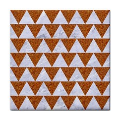 Triangle2 White Marble & Rusted Metal Face Towel by trendistuff