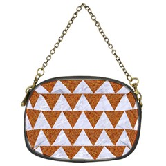 Triangle2 White Marble & Rusted Metal Chain Purses (two Sides)  by trendistuff
