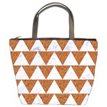 TRIANGLE2 WHITE MARBLE & RUSTED METAL Bucket Bags Front