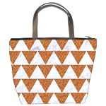 TRIANGLE2 WHITE MARBLE & RUSTED METAL Bucket Bags Back