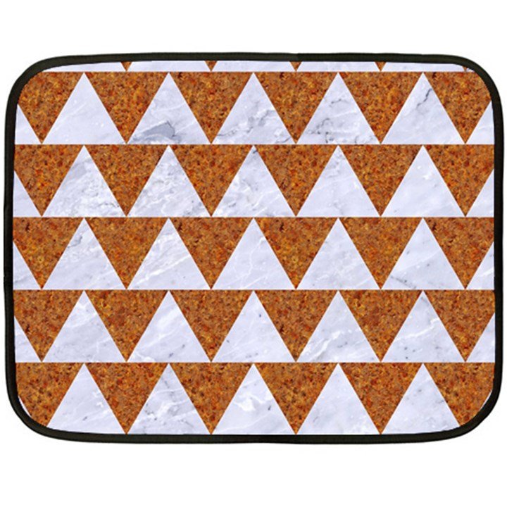 TRIANGLE2 WHITE MARBLE & RUSTED METAL Fleece Blanket (Mini)