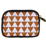 TRIANGLE2 WHITE MARBLE & RUSTED METAL Digital Camera Cases Back
