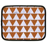 TRIANGLE2 WHITE MARBLE & RUSTED METAL Netbook Case (XL)  Front