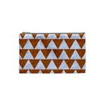 TRIANGLE2 WHITE MARBLE & RUSTED METAL Cosmetic Bag (Small)  Front