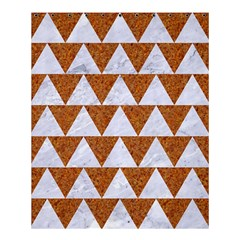 Triangle2 White Marble & Rusted Metal Shower Curtain 60  X 72  (medium)  by trendistuff
