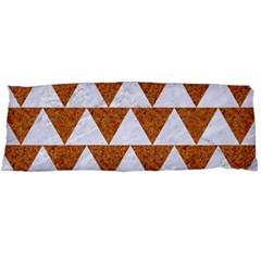 Triangle2 White Marble & Rusted Metal Body Pillow Case (dakimakura) by trendistuff