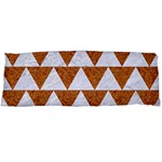 TRIANGLE2 WHITE MARBLE & RUSTED METAL Body Pillow Case Dakimakura (Two Sides) Front