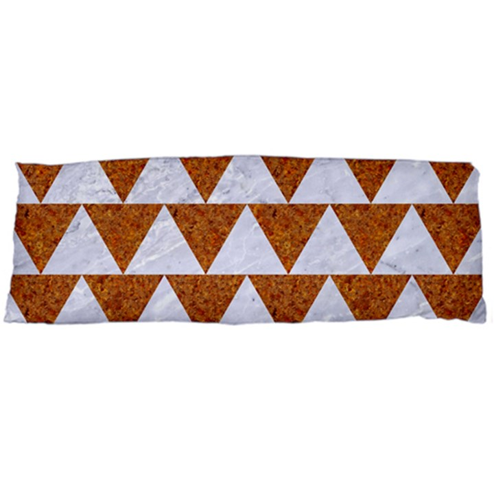 TRIANGLE2 WHITE MARBLE & RUSTED METAL Body Pillow Case Dakimakura (Two Sides)
