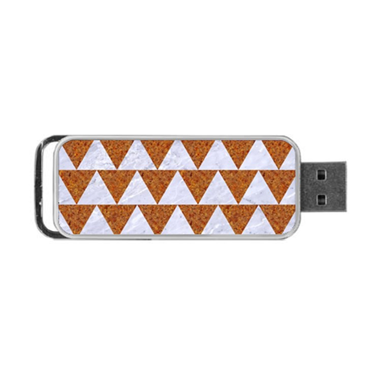 TRIANGLE2 WHITE MARBLE & RUSTED METAL Portable USB Flash (Two Sides)