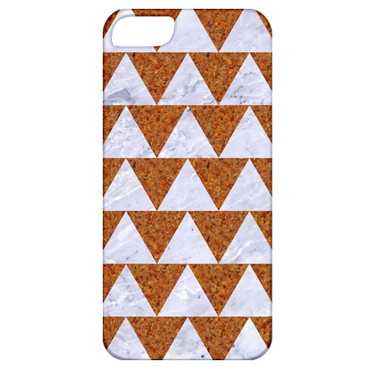 TRIANGLE2 WHITE MARBLE & RUSTED METAL Apple iPhone 5 Classic Hardshell Case