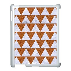 Triangle2 White Marble & Rusted Metal Apple Ipad 3/4 Case (white) by trendistuff