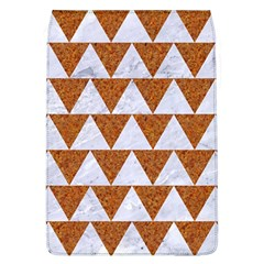 Triangle2 White Marble & Rusted Metal Flap Covers (l)  by trendistuff