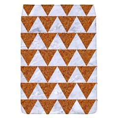 Triangle2 White Marble & Rusted Metal Flap Covers (s)  by trendistuff