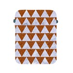 TRIANGLE2 WHITE MARBLE & RUSTED METAL Apple iPad 2/3/4 Protective Soft Cases Front