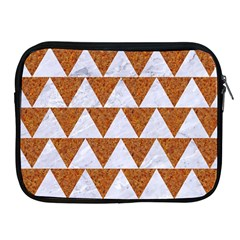 Triangle2 White Marble & Rusted Metal Apple Ipad 2/3/4 Zipper Cases by trendistuff