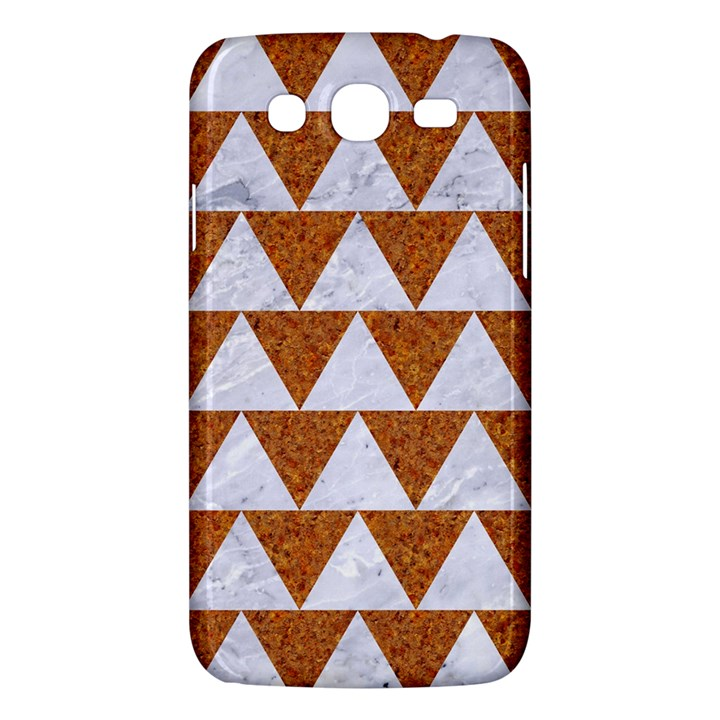 TRIANGLE2 WHITE MARBLE & RUSTED METAL Samsung Galaxy Mega 5.8 I9152 Hardshell Case