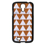 TRIANGLE2 WHITE MARBLE & RUSTED METAL Samsung Galaxy S4 I9500/ I9505 Case (Black) Front