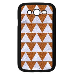 Triangle2 White Marble & Rusted Metal Samsung Galaxy Grand Duos I9082 Case (black) by trendistuff