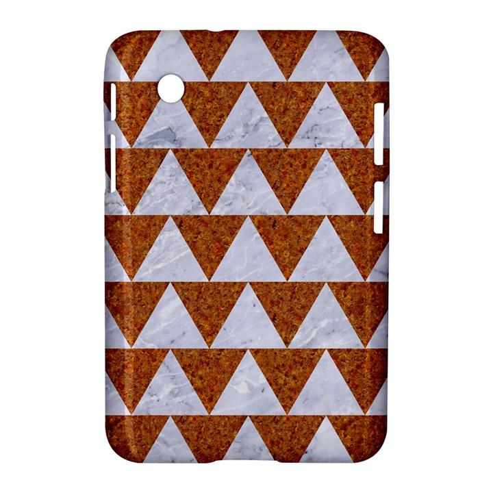 TRIANGLE2 WHITE MARBLE & RUSTED METAL Samsung Galaxy Tab 2 (7 ) P3100 Hardshell Case