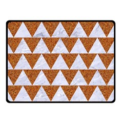 Triangle2 White Marble & Rusted Metal Double Sided Fleece Blanket (small)  by trendistuff