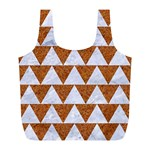 TRIANGLE2 WHITE MARBLE & RUSTED METAL Full Print Recycle Bags (L)  Front