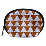 TRIANGLE2 WHITE MARBLE & RUSTED METAL Accessory Pouches (Medium)  Front
