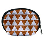 TRIANGLE2 WHITE MARBLE & RUSTED METAL Accessory Pouches (Medium)  Back