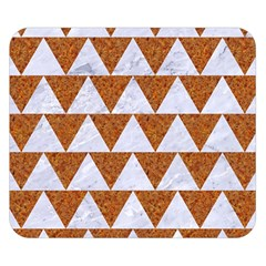 Triangle2 White Marble & Rusted Metal Double Sided Flano Blanket (small)  by trendistuff
