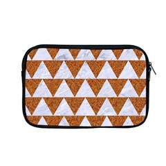 Triangle2 White Marble & Rusted Metal Apple Macbook Pro 13  Zipper Case by trendistuff