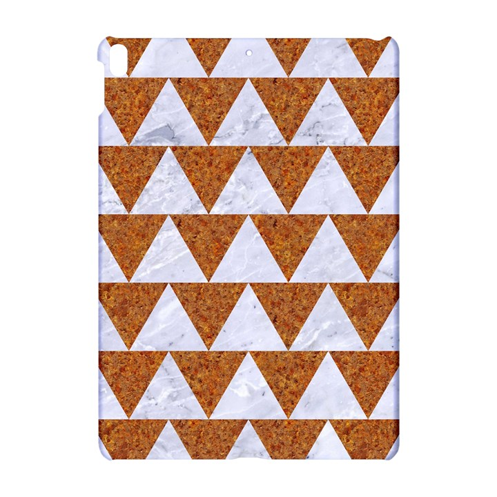 TRIANGLE2 WHITE MARBLE & RUSTED METAL Apple iPad Pro 10.5   Hardshell Case