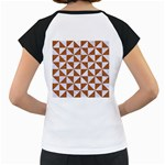 TRIANGLE1 WHITE MARBLE & RUSTED METAL Women s Cap Sleeve T Back