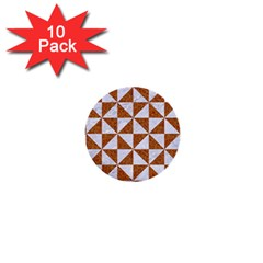 Triangle1 White Marble & Rusted Metal 1  Mini Buttons (10 Pack)  by trendistuff